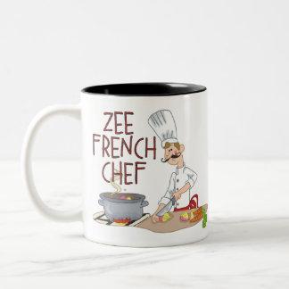Regalos franceses divertidos del cocinero taza de café