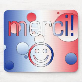 Regalos franceses: Gracias/Merci + Cara sonriente Tapetes De Ratones