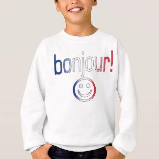 Regalos franceses: Hola/Bonjour + Cara sonriente Polera