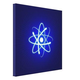 Regalos frescos del friki del átomo que brillan impresión en tela