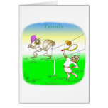 Regalos frescos del tenis para los niños tarjeta