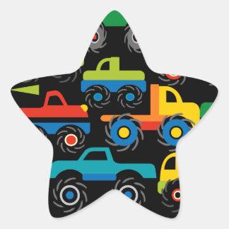 Regalos frescos del transporte de los camiones de pegatina en forma de estrella