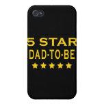Regalos frescos divertidos: Papá de cinco estrella iPhone 4 Fundas