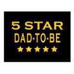 Regalos frescos divertidos: Papá de cinco estrella Postal