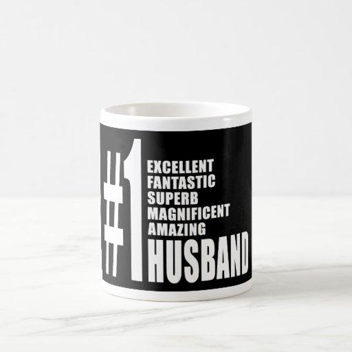 Regalos frescos para los maridos: Marido del númer Taza Básica Blanca