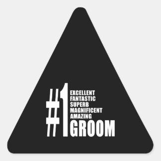 Regalos frescos para los novios: Novio del número Colcomanias Triangulo