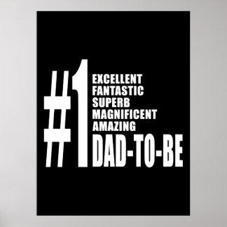 Regalos frescos para los papás futuros Papá del n Posters
