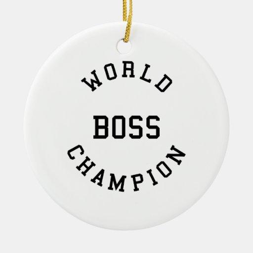 Regalos frescos retros para los jefes: Campeón Bos Ornaments Para Arbol De Navidad