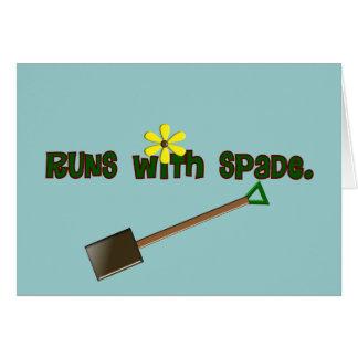 """Regalos """"funcionamientos del jardinero con la espa tarjeta de felicitación"""