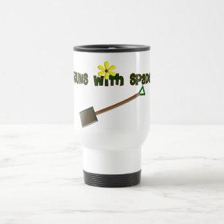 """Regalos """"funcionamientos del jardinero con la espa taza de viaje de acero inoxidable"""