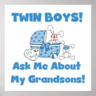 Regalos gemelos de los nietos de los muchachos poster