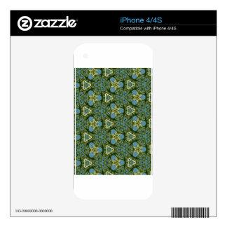 Regalos geométricos coloridos de las formas calcomanías para el iPhone 4