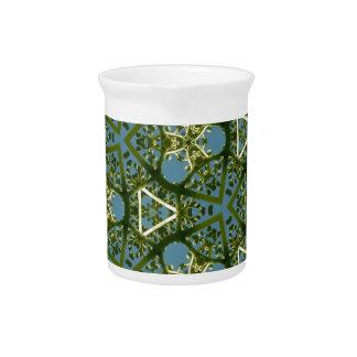 Regalos geométricos coloridos de las formas jarra de beber