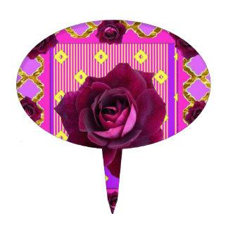 Regalos gitanos color de rosa púrpuras del modelo decoraciones para tartas