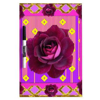 Regalos gitanos color de rosa púrpuras del modelo tablero blanco