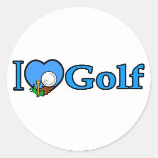 Regalos Golfing del golf del golfista Etiquetas Redondas