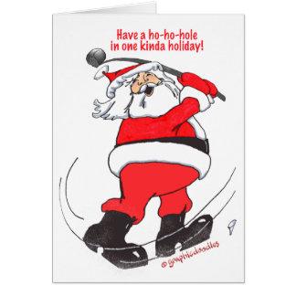 Regalos golfing del navidad de Santa Tarjeta De Felicitación