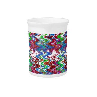Regalos grabados en relieve coloridos abstractos jarra