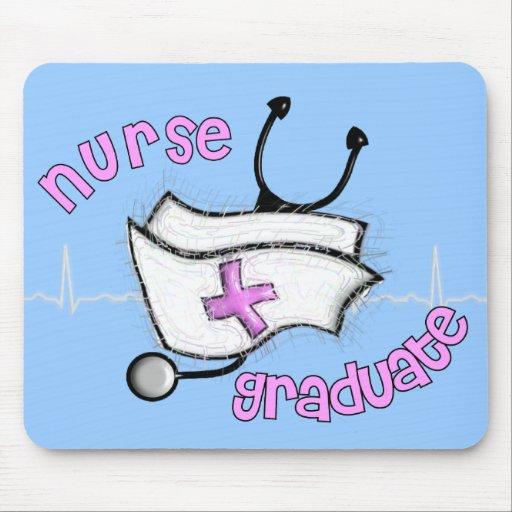 Regalos graduados de la enfermera (diseño del casq tapete de ratones