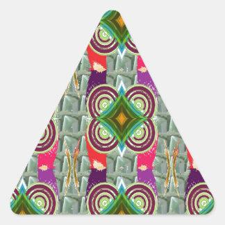 Regalos gráficos geométricos únicos del arte del pegatinas de triangulo personalizadas