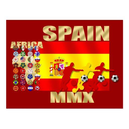 Regalos grandes del futbol del fútbol de África MM Tarjeta Postal