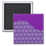 Regalos grandes púrpuras bonitos del modelo de ond iman de frigorífico