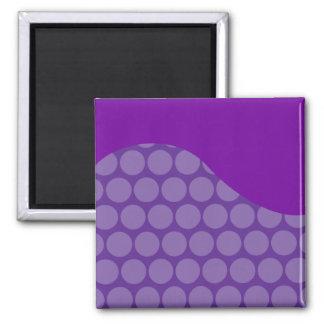 Regalos grandes púrpuras bonitos del modelo de ond imán cuadrado