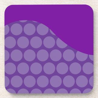 Regalos grandes púrpuras bonitos del modelo de ond posavasos de bebida