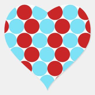 Regalos grandes rojos del modelo de lunares de la pegatina en forma de corazón