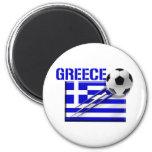 Regalos griegos del fútbol de bandera del logotipo imán de nevera