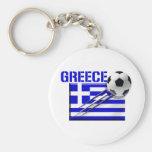 Regalos griegos del fútbol de bandera del logotipo llavero