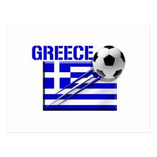 Regalos griegos del fútbol de bandera del logotipo postal