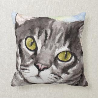 Regalos grises del gato de Tabby Cojín