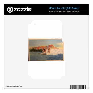 Regalos hawaianos de la persona que practica surf calcomanía para iPod touch 4G