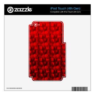 Regalos hermosos del diseño del color de vino rojo calcomanías para iPod touch 4G