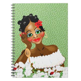 Regalos hermosos del ejemplo de Nana del cocinero Spiral Notebooks