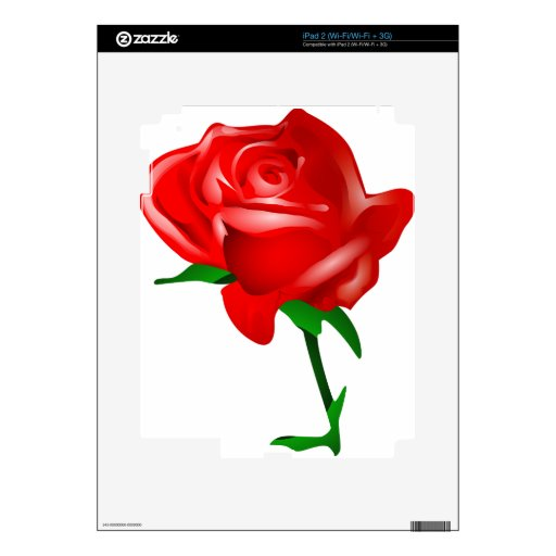 Regalos hermosos del rosa rojo calcomanías para el iPad 2
