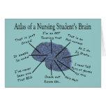 """Regalos hilarantes del """"cerebro"""" del estudiante de tarjeta"""