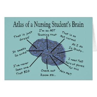 Regalos hilarantes del cerebro del estudiante de tarjeta