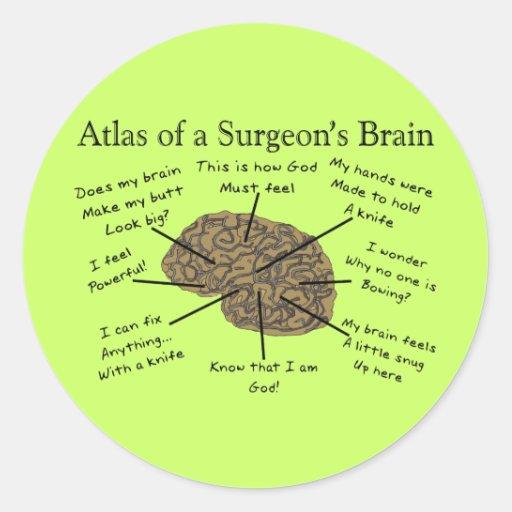 Regalos hilarantes del cirujano etiquetas redondas