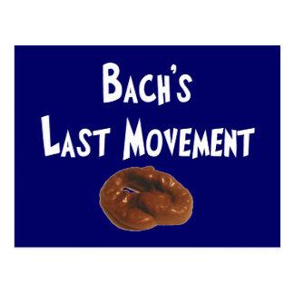 Regalos hilarantes del movimiento pasado de Bachs Postales