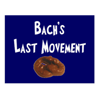 Regalos hilarantes del movimiento pasado de Bachs Postal
