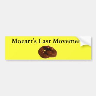 Regalos hilarantes del movimiento pasado de Mozart Pegatina De Parachoque