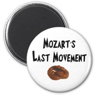 Regalos hilarantes del movimiento pasado de Mozart Iman Para Frigorífico