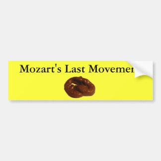 Regalos hilarantes del movimiento pasado de Mozart Pegatina Para Auto