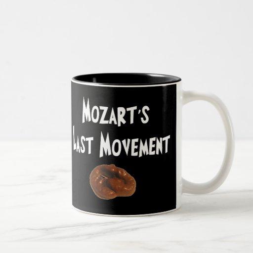 Regalos hilarantes del movimiento pasado de Mozart Taza De Café