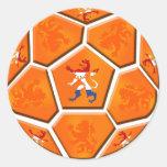Regalos holandeses holandeses del balón de fútbol  pegatina redonda
