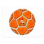Regalos holandeses holandeses del balón de fútbol postal