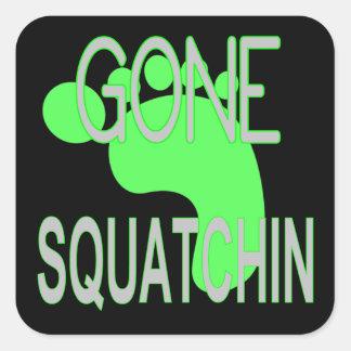 Regalos idos de Squatchin Pegatinas Cuadradases Personalizadas