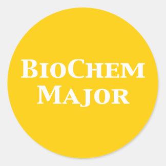 Regalos importantes de la bioquímica pegatina redonda
